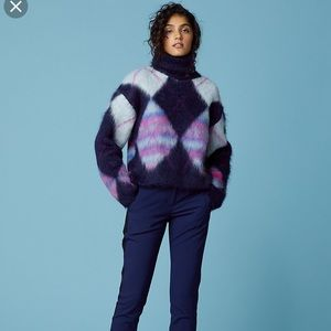 DVF chunky mohair sweater